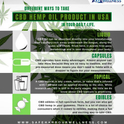 Different methods to take CBD Hemp Oil Product in U.S.A. in your every day life?